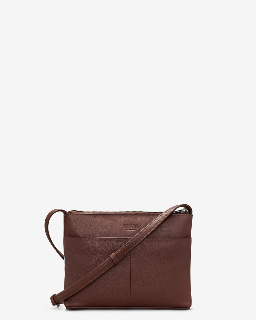 Curiosity Bookshop Brown Leather Cross Body Bag -  - Yoshi