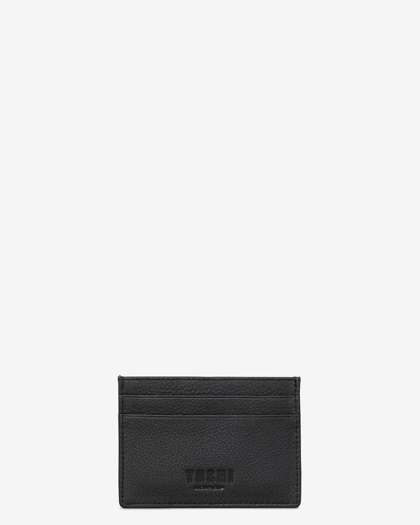 Bookworm Black Leather Academy Card Holder - Yoshi