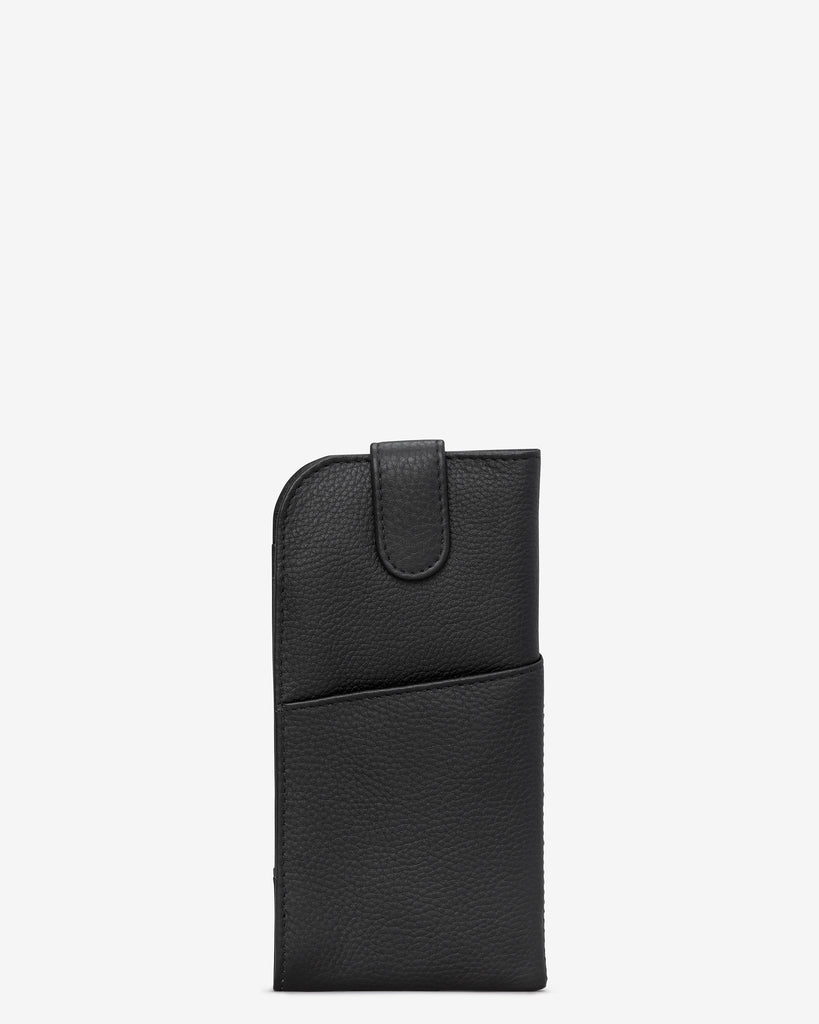 Bookworm Black Leather Chilton Glasses Case - Yoshi