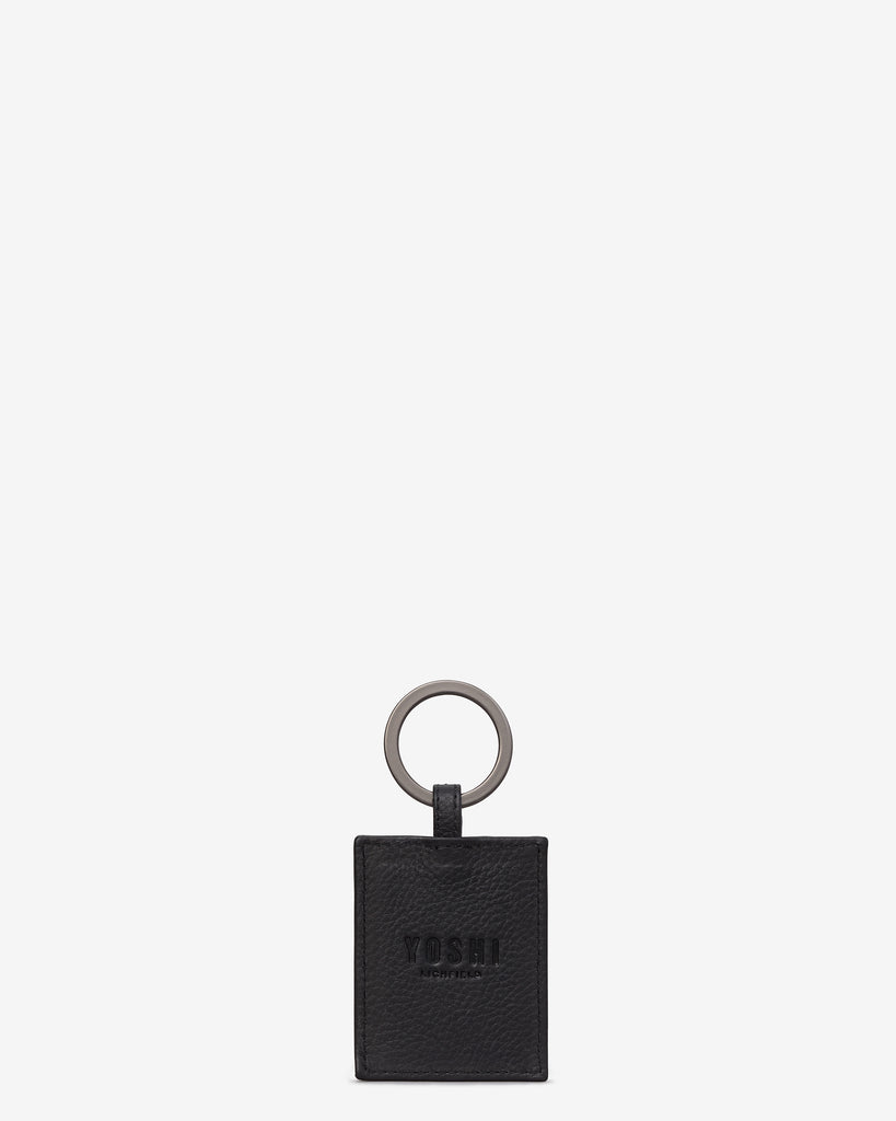 Bookworm Black Leather Keyring -  - Yoshi