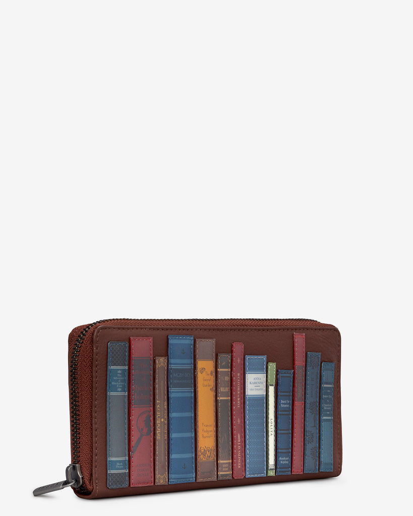 Bookworm Brown Leather Baxter Purse -  - Yoshi