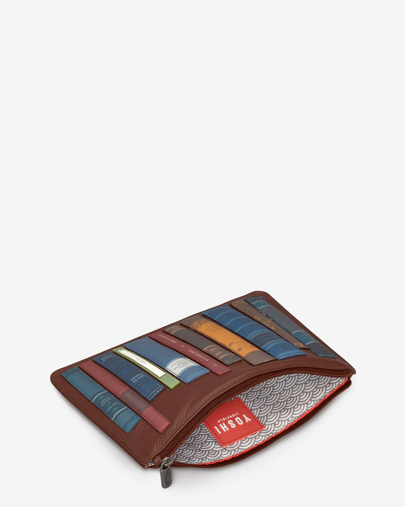 Bookworm Brown Leather Brooklyn Pouch - Yoshi