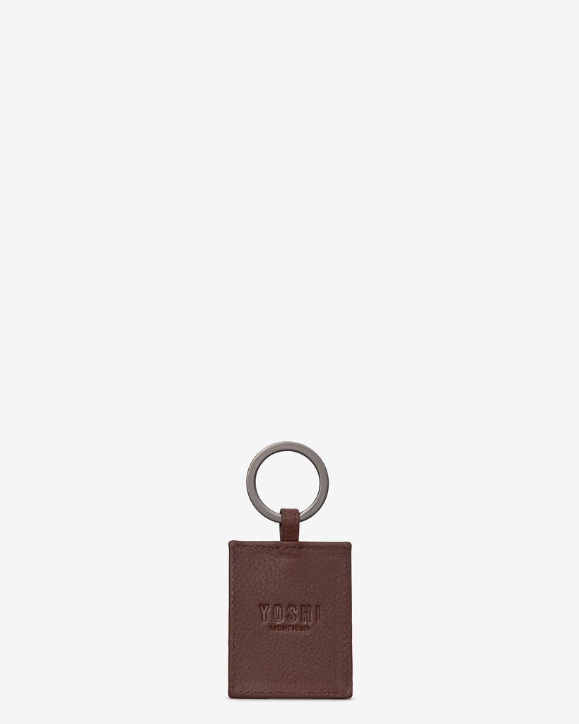 Bookworm Brown Leather Keyring -  - Yoshi
