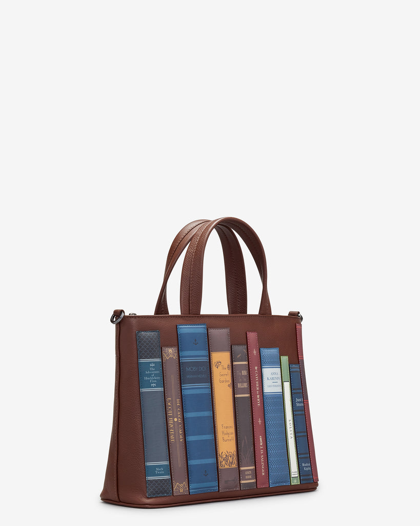 Bookworm Brown Leather Multiway Grab Bag -  - Yoshi