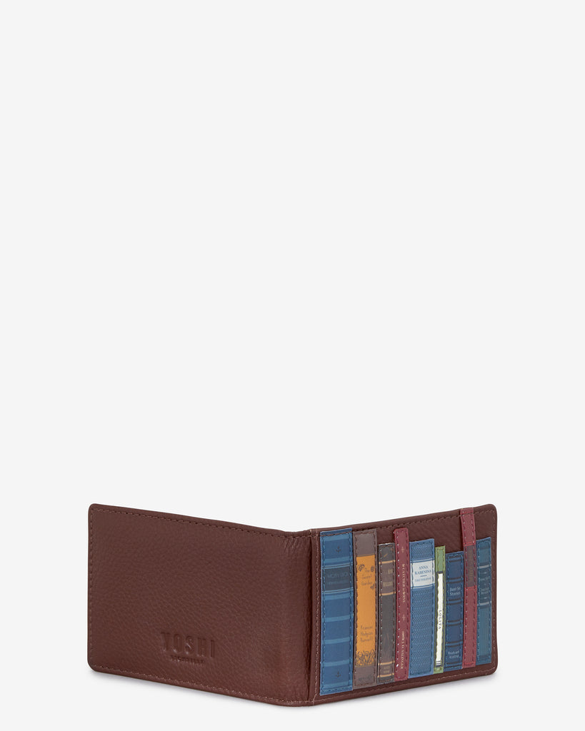 Bookworm Brown Leather Travel Pass Holder -  - Yoshi