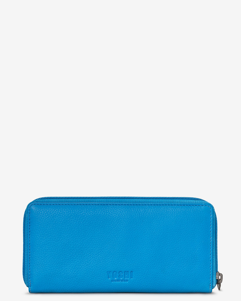 Bookworm Cobalt Blue Leather Baxter Purse - Yoshi