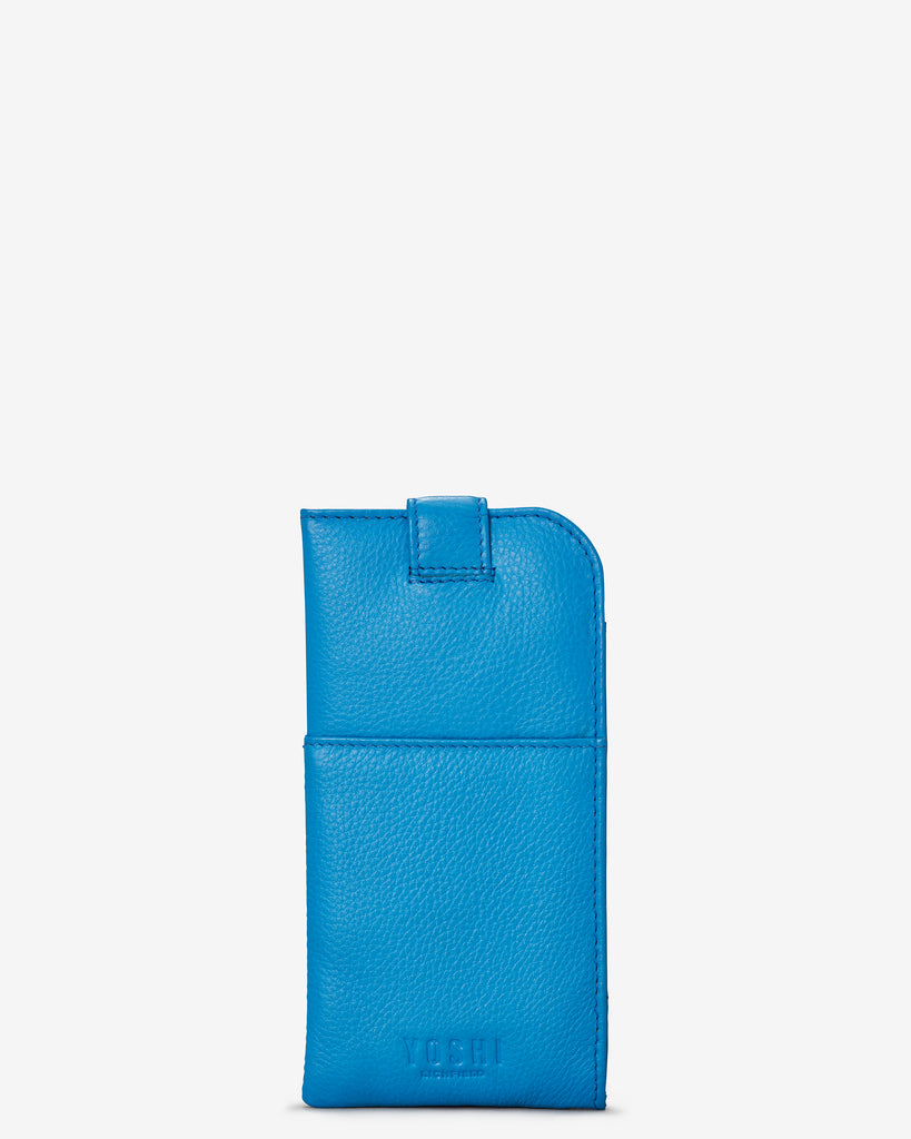 Bookworm Cobalt Blue Leather Chilton Glasses Case - Yoshi