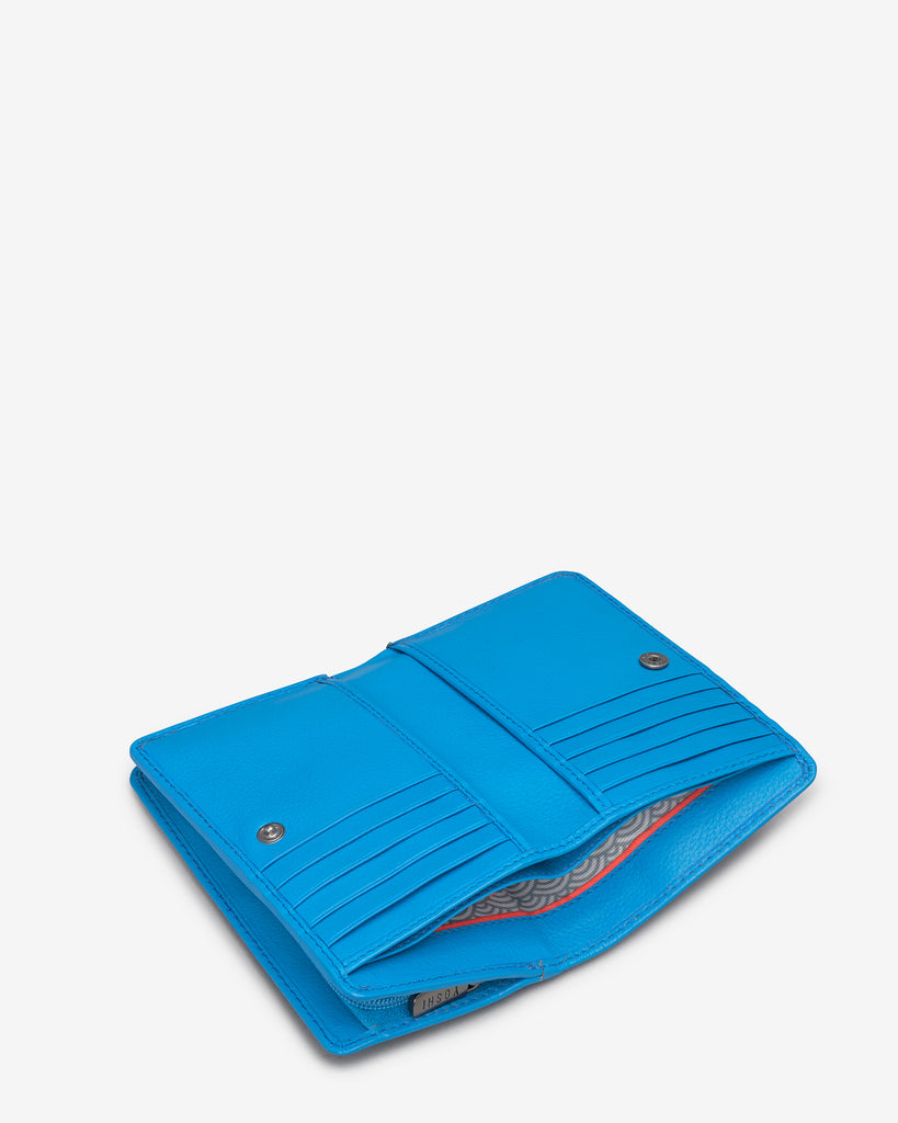 Bookworm Cobalt Blue Leather Oxford Purse - Yoshi
