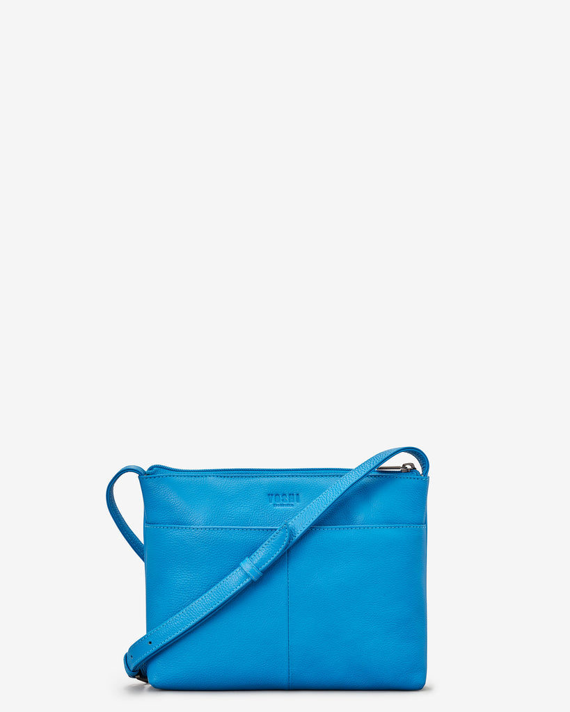 Bookworm Cobalt Blue Leather Cross Body Bag - Yoshi