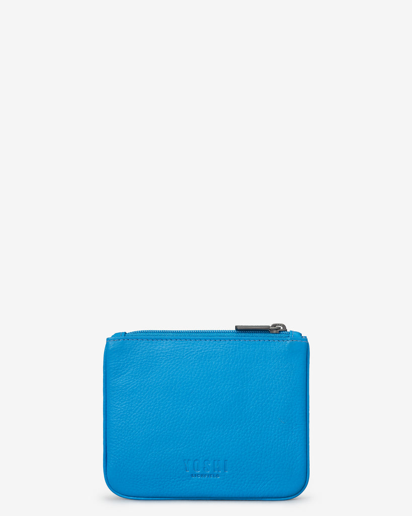 Bookworm Cobalt Blue Leather Caxton Purse - Yoshi