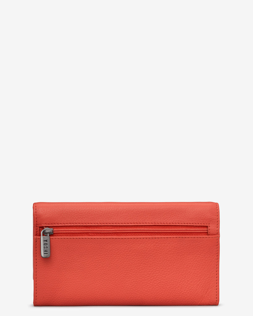 Bookworm Coral Leather Hudson Purse -  - Yoshi
