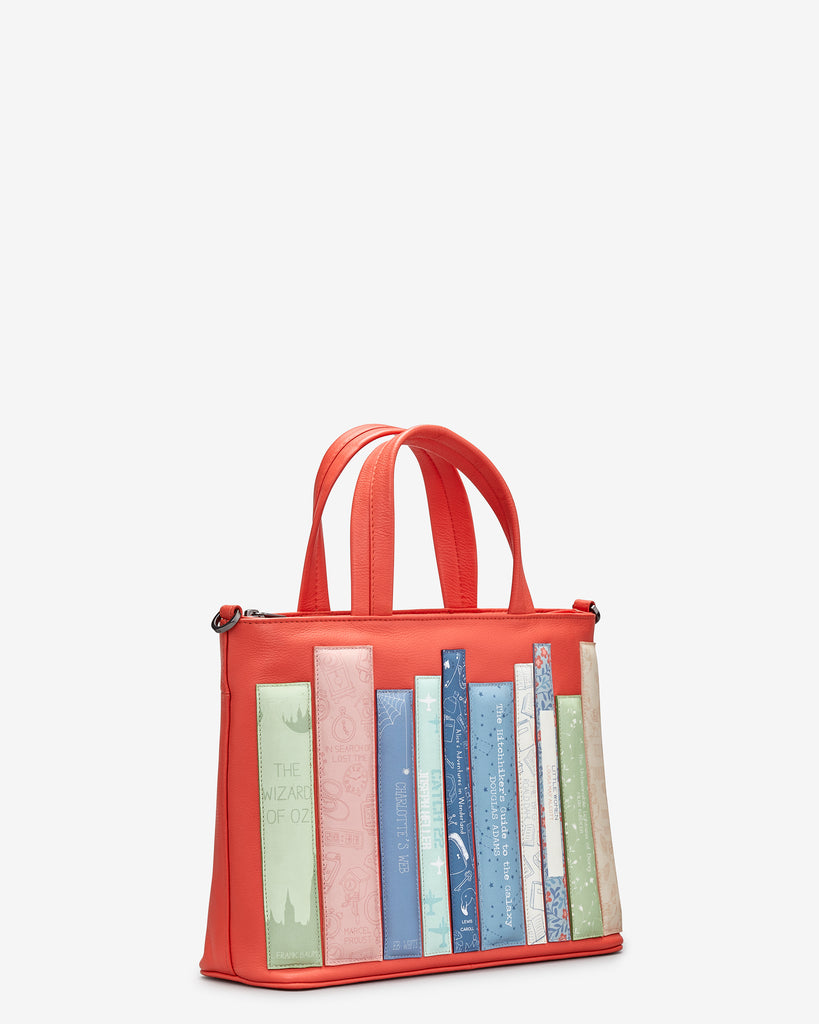 Bookworm Coral Leather Multiway Grab Bag -  - Yoshi