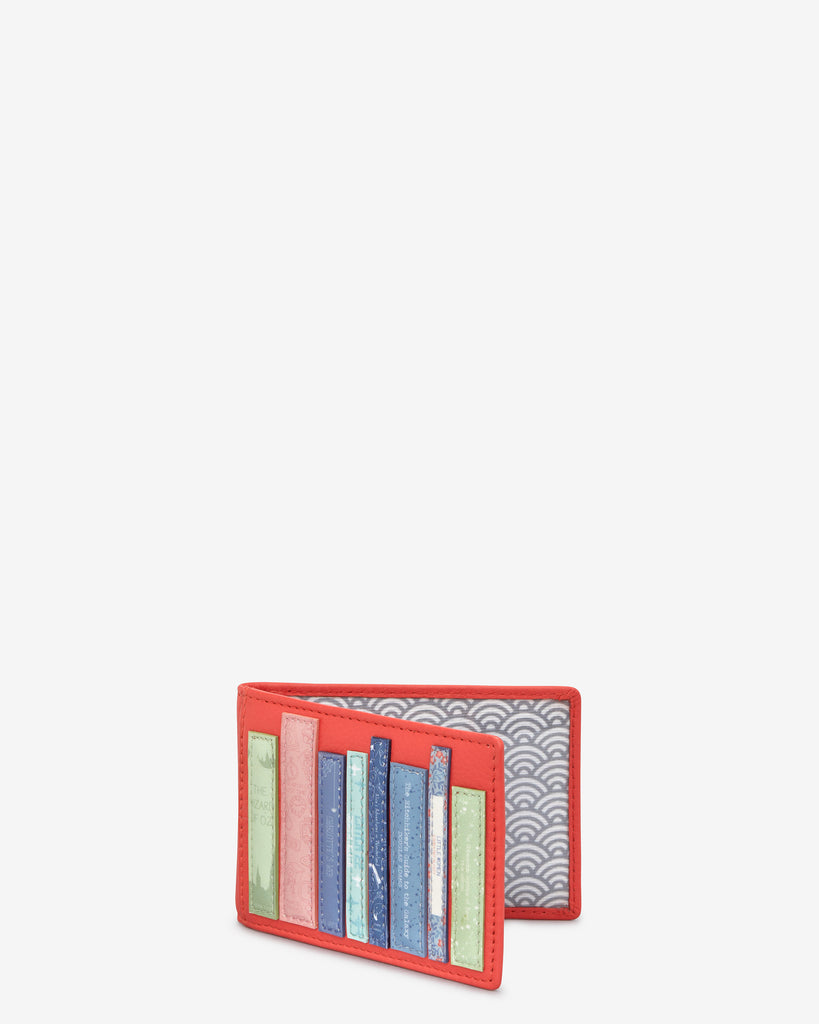 Bookworm Coral Leather Travel Pass Holder -  - Yoshi
