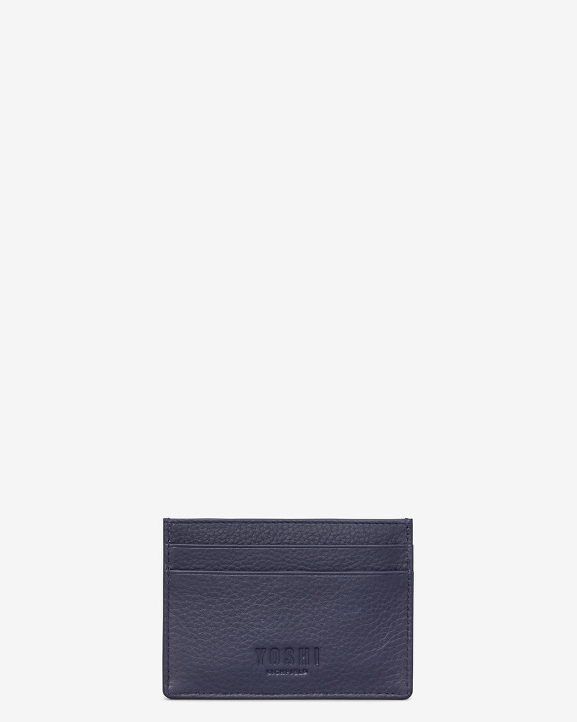 Bookworm Cookbook Navy Leather Academy Card Holder -  - Yoshi