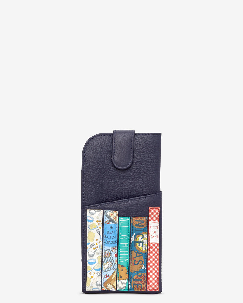 Bookworm Cookbook Navy Leather Chilton Glasses Case - Yoshi