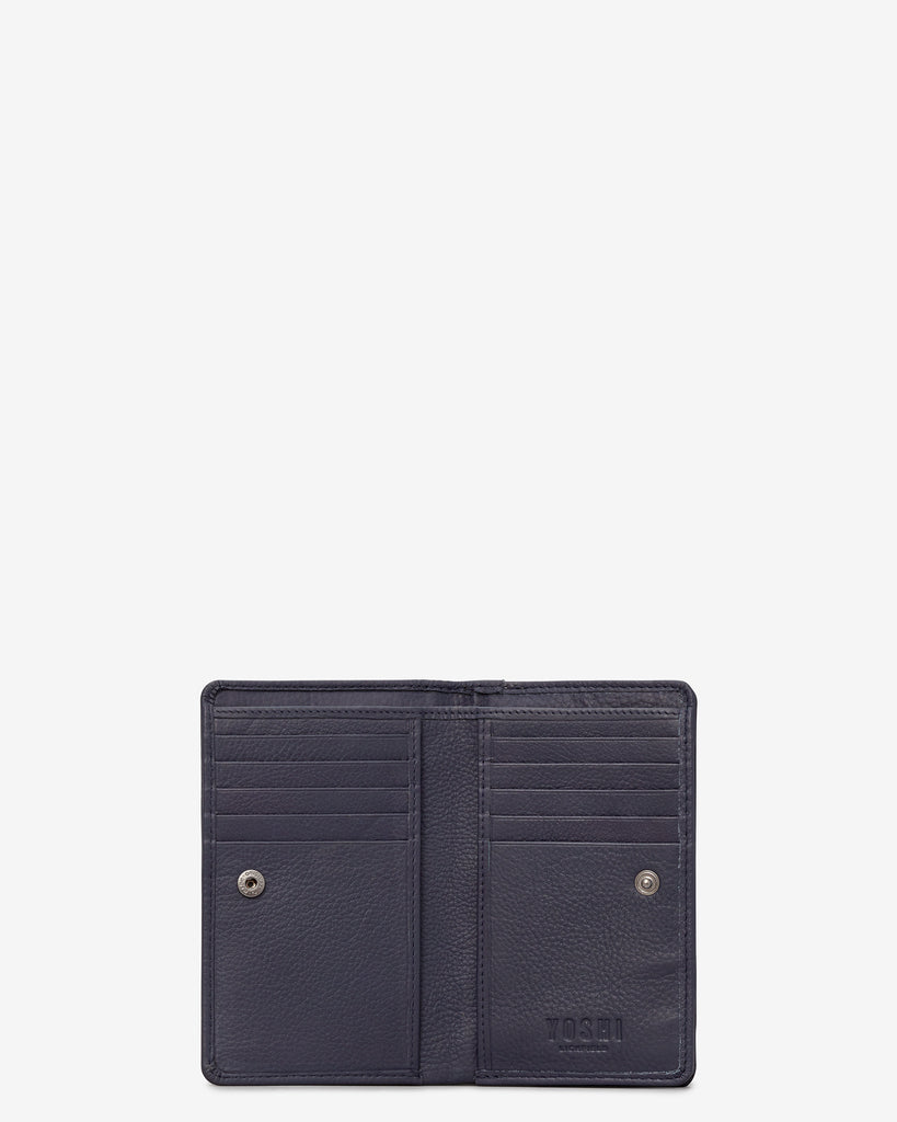 Bookworm Cookbook Navy Leather Oxford Purse -  - Yoshi