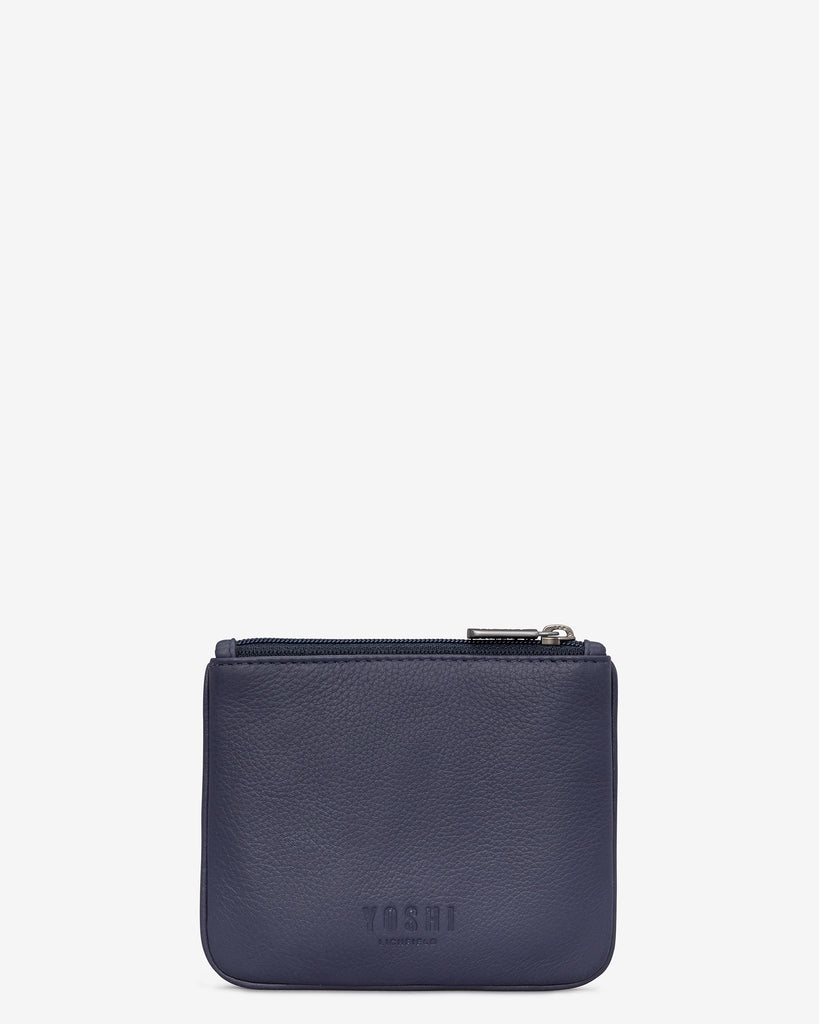 Bookworm Cookbook Navy Leather Caxton Purse -  - Yoshi