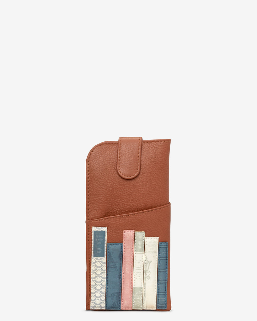 Bookworm Tan Leather Chilton Glasses Case - Tan - Yoshi