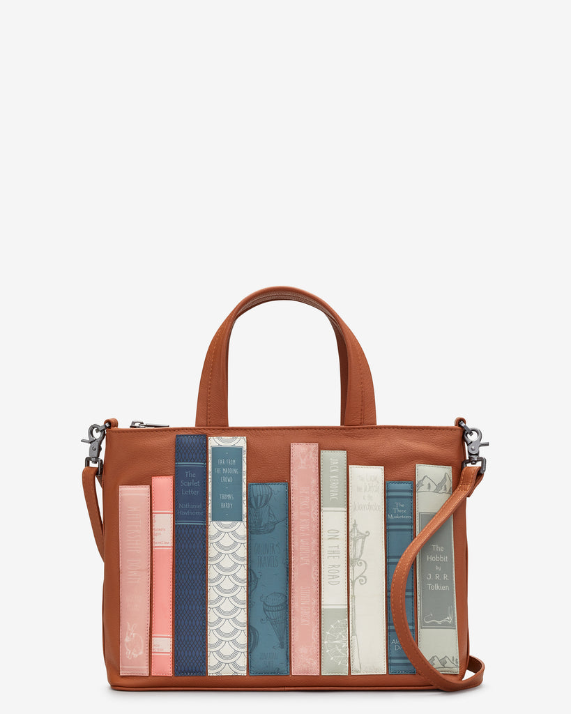 Bookworm Tan Leather Multiway Grab Bag - Tan - Yoshi