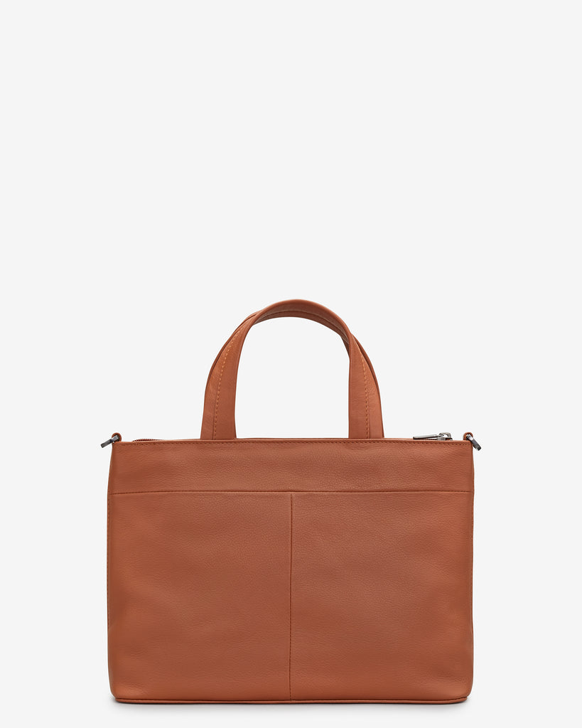 Bookworm Tan Leather Multiway Grab Bag -  - Yoshi