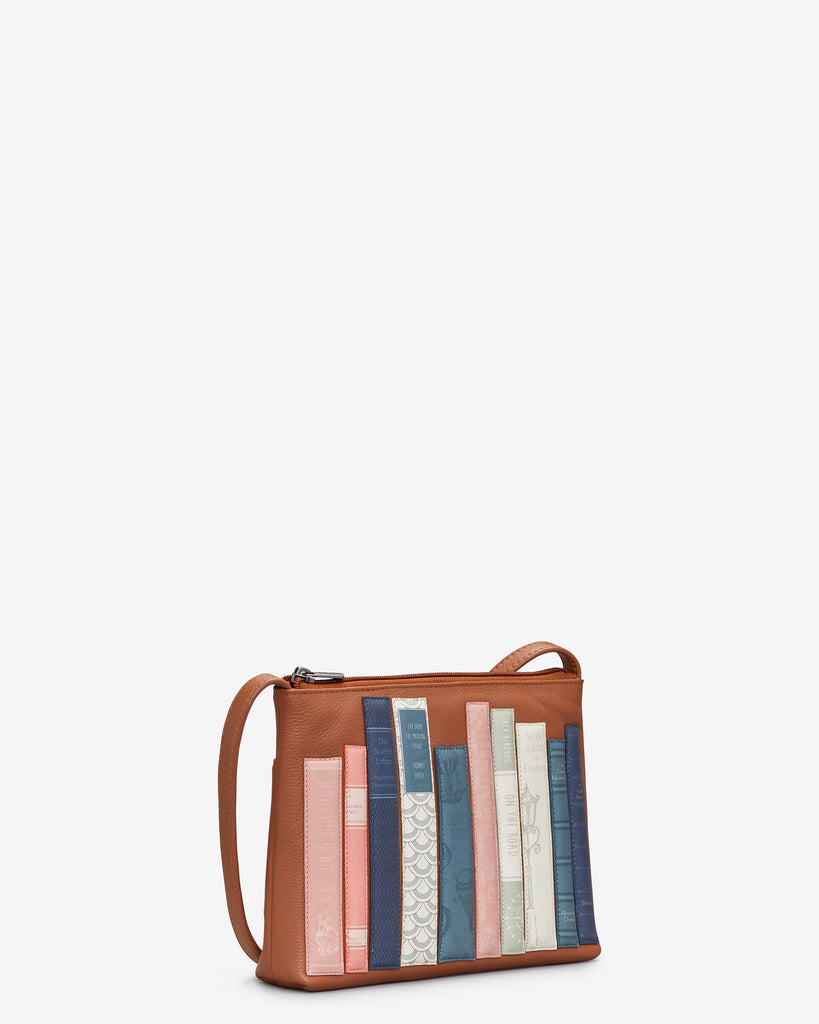 Bookworm Tan Leather Cross Body Bag -  - Yoshi