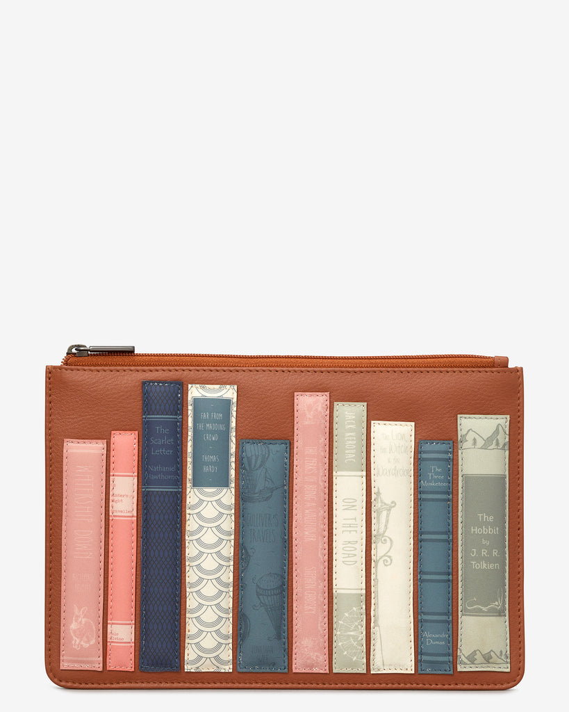 Bookworm Tan Leather Brooklyn Pouch - Tan - Yoshi