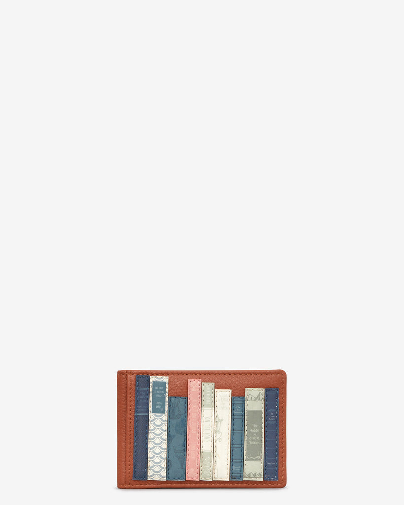 Bookworm Tan Leather Travel Pass Holder - Tan - Yoshi