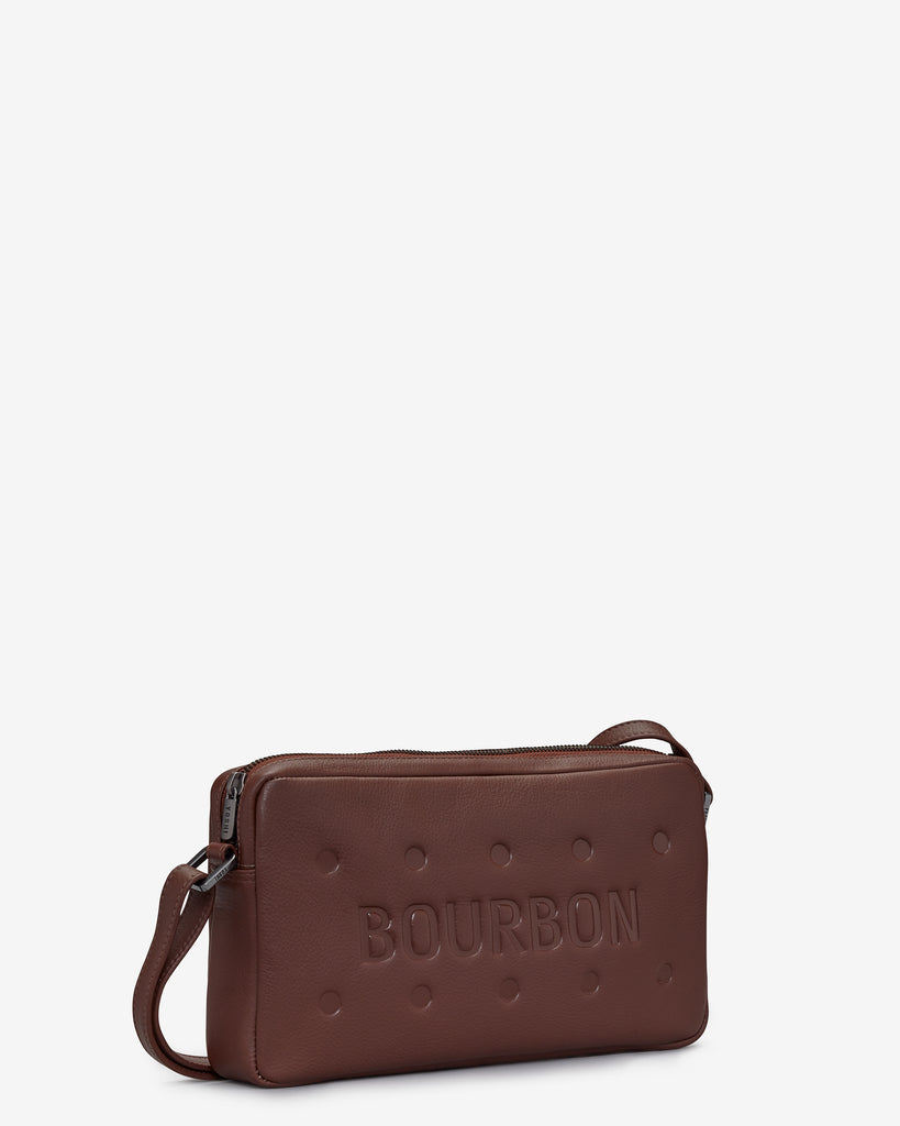 Bourbon Biscuit Leather Cross Body Bag d