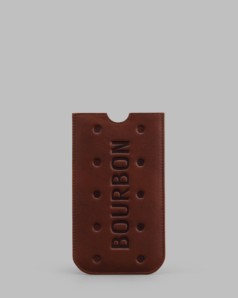 Bourbon Biscuit Leather Mobile Phone Case a