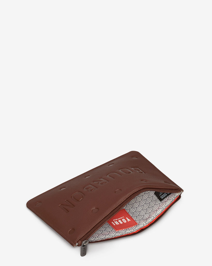 Bourbon Biscuit Leather Brooklyn Pouch -  - Yoshi