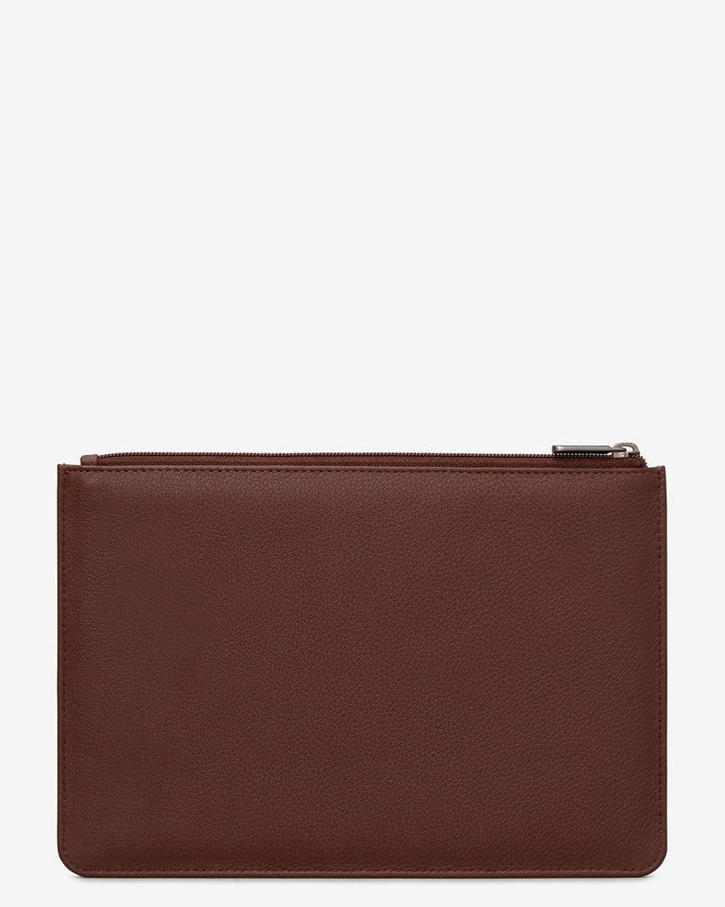 Brown Leather Brooklyn Pouch -  - Yoshi