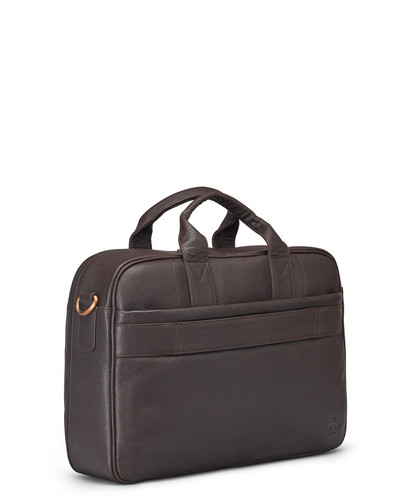 Brown Leather Business Bag - Yoshi