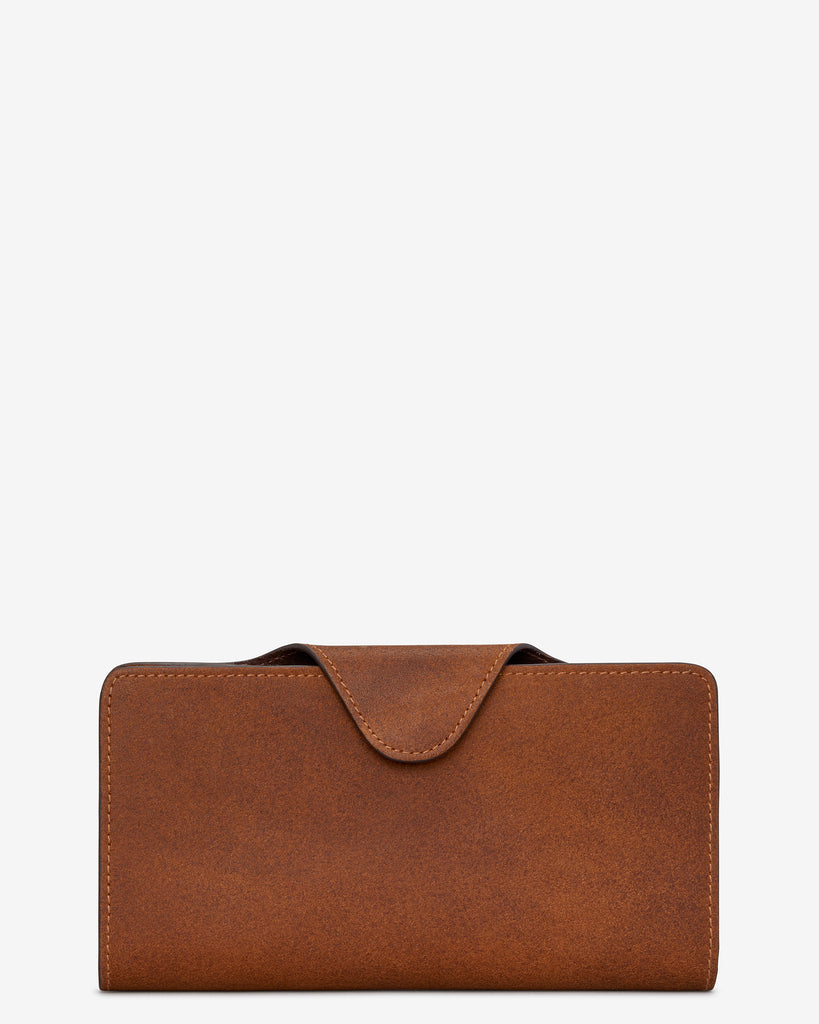 Brown Satchel Leather Purse - Yoshi