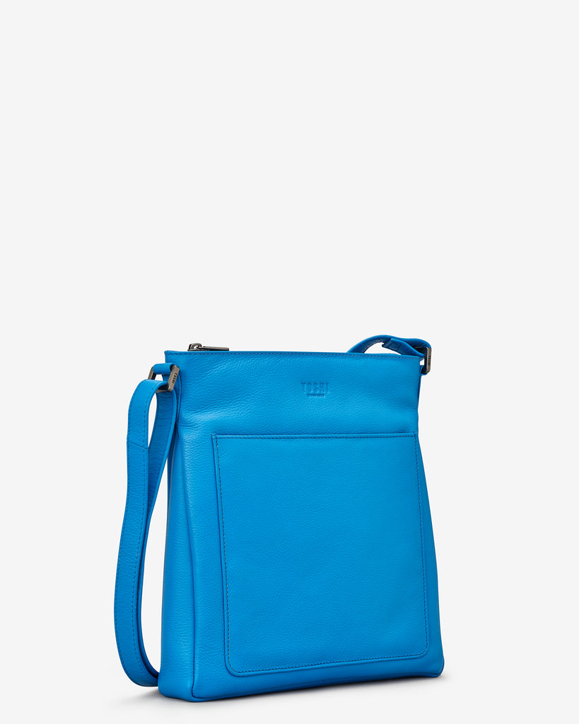 Bryant Cobalt Blue Leather Cross Body Bag - Yoshi