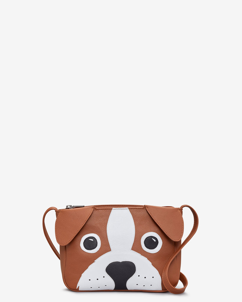 Buddy the Dog Tan Leather Cross Body Bag - Yoshi