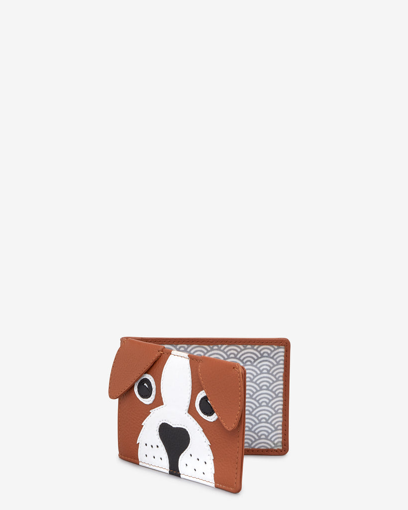 Buddy the Dog Tan Leather Travel Pass Holder -  - Yoshi