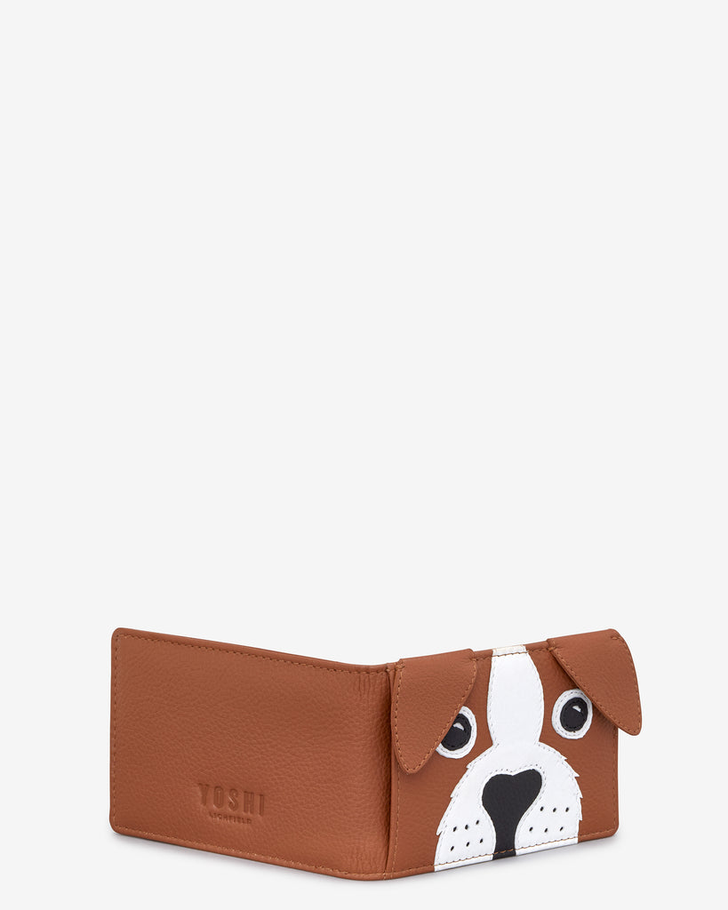 Buddy the Dog Tan Leather Travel Pass Holder - Yoshi