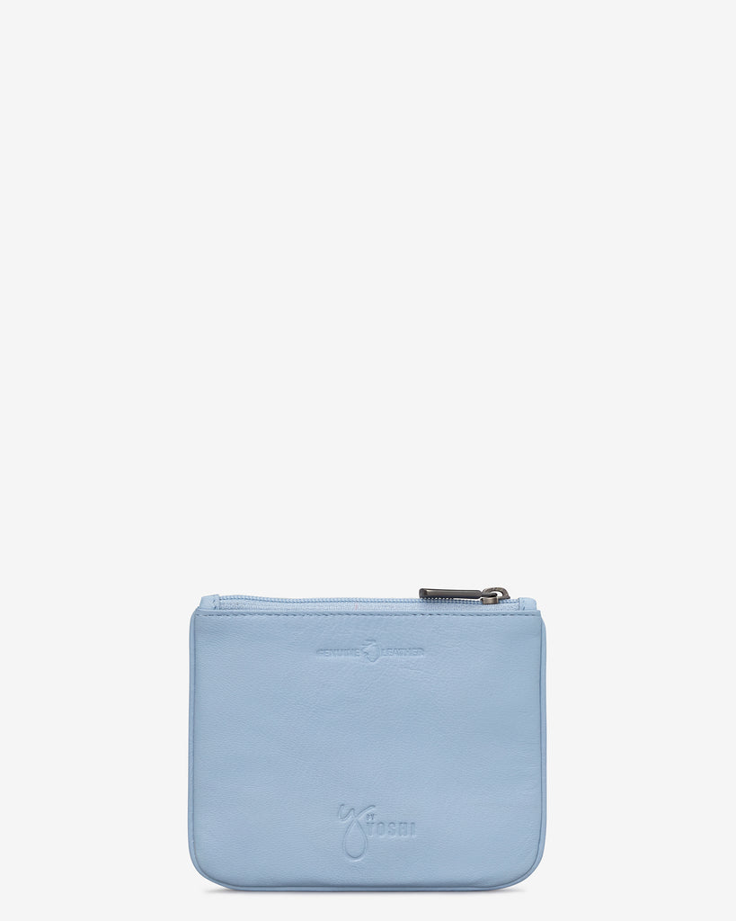 Bumble Bee Blue Leather Zip Top Purse -  - Yoshi