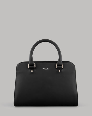 Cassidy Ladies Black Leather Tote Bag by Yoshi