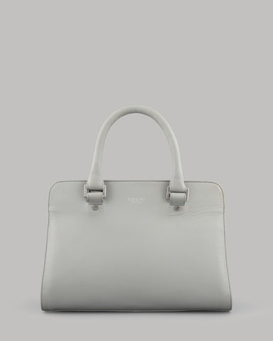 Cassidy Ladies Lunar Grey Leather Tote Bag by Yoshi