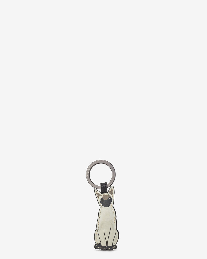 Cat Lounge Leather Kitten Keyring - Yoshi