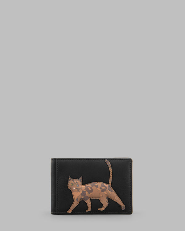 Cats Whiskers Black Leather Travel Pass Holder A