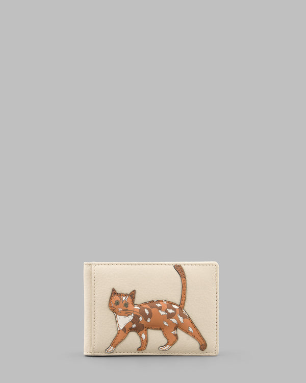 Cats Whiskers Cream Leather Travel Pass Holder A