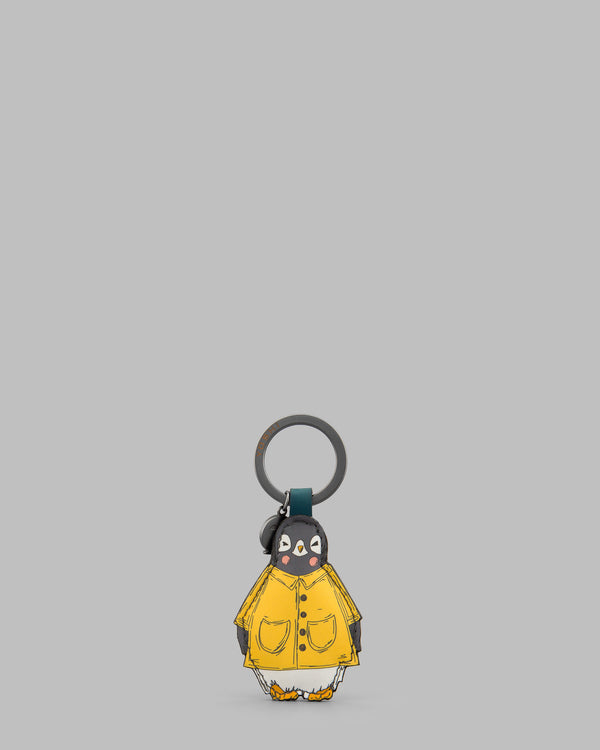 Chilly Chums Teal Leather Keyring Yellow Mac A
