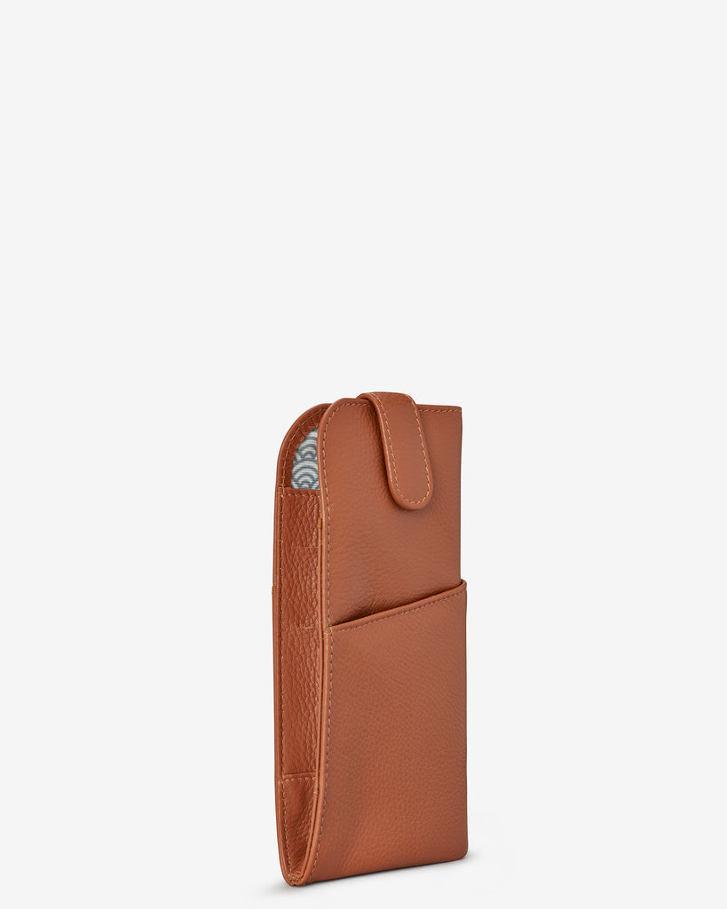 Tan Leather Chilton Glasses Case - Yoshi