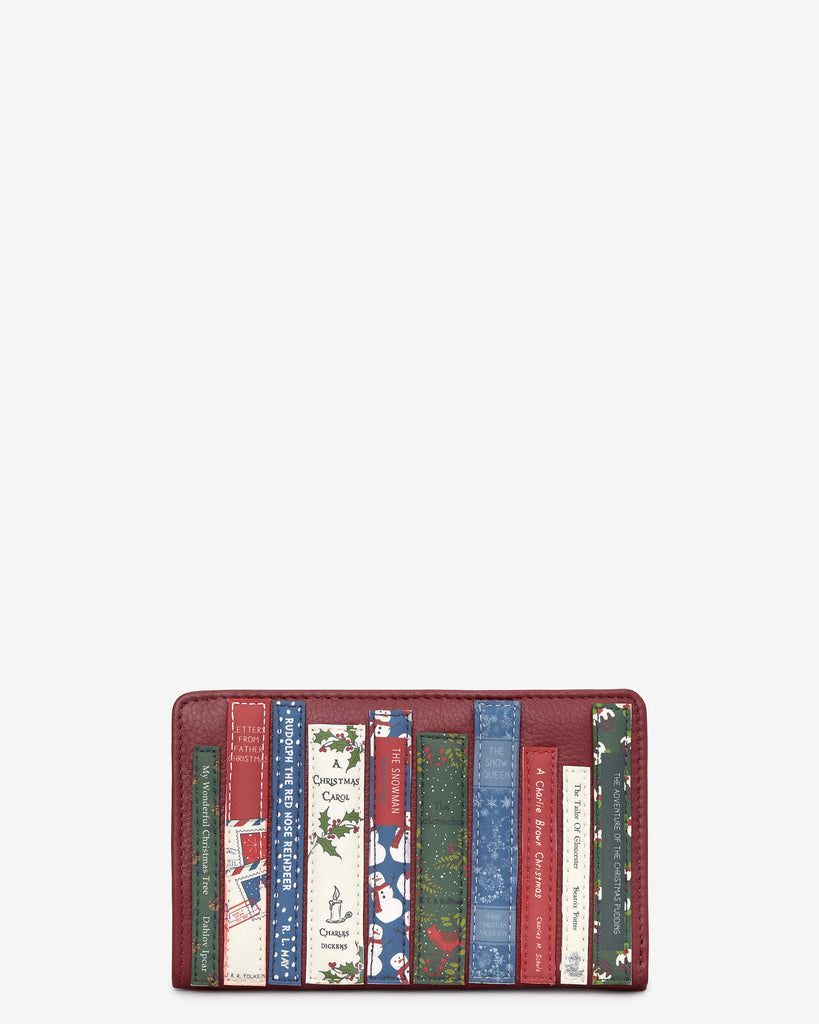 Christmas Bookworm Red Leather Oxford Purse - Red - Yoshi