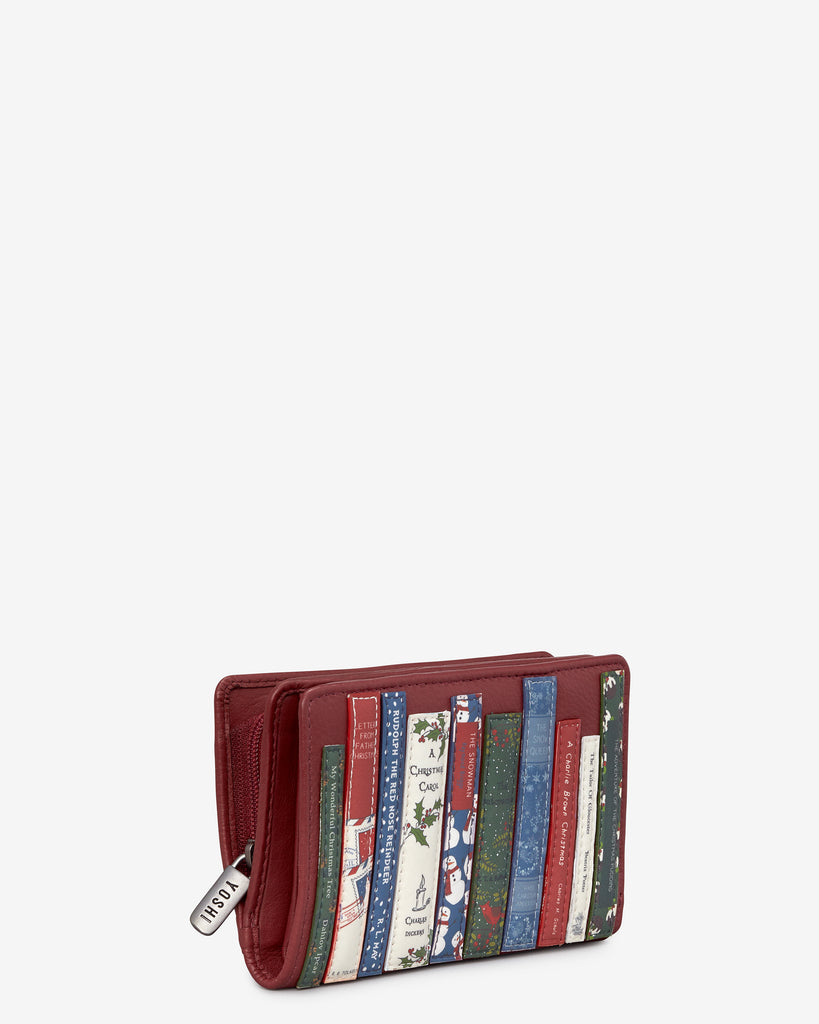Christmas Bookworm Red Leather Oxford Purse -  - Yoshi