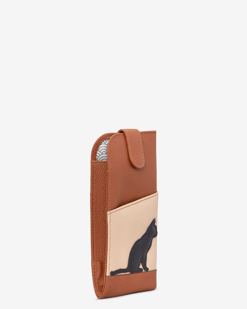 Clowder of Cats Tan Leather Chilton Glasses Case -  - Yoshi
