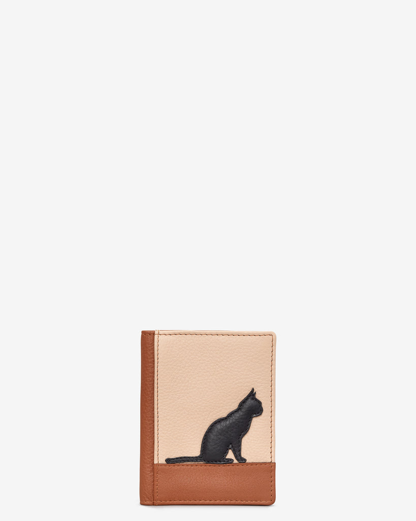 Clowder of Cats Tan Leather Travel Pass Holder - Tan - Yoshi