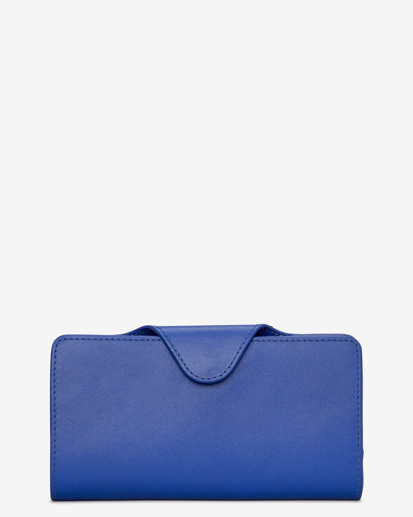 Cobalt Satchel Leather Purse - Yoshi